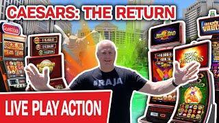 CAESARS: The Return!  BACK in Las Vegas for LIVE HIGH-LIMIT SLOTS
