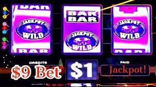 $9 Bet High LIMIT Double Jackpot Gems HUGE JACKPOT WIN! #Shorts