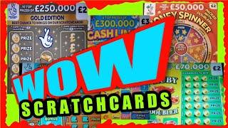 EXCITING Scratchcard Game...WIN £50..CASH LINES..CASH MATCH..MONEY SPINNER..£100,000..7s DOUBLER.