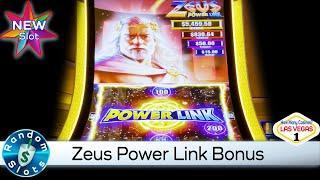 ️ New - Zeus Power Link Slot Machine Bonus with Upgrade