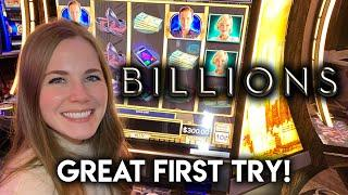First Time Trying BILLIONS! Slot Machine! Wheel Bonus Free Games! Mighty Cash Feature!