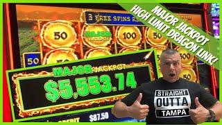 NEW! High Limit Dragon Link MAJOR JACKPOT (FIRST SPIN) Tampa Hardrock