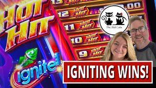 IGNITING WINS! PANDA PAYS AND HOT HITS PROGRESSIVE!!