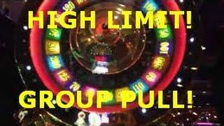 HIGH LIMIT GROUP PULL! $15 Bet Monte Carlo slot machine with Bonus Spins