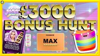 £3000 BONUS HUNT!! Lil Devil, Jammin' Jars, Monopoly Megaways & More..