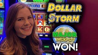 MAJOR JACKPOT WON! Dollar Storm Slot Machine! AMAZING RUN!! #ad
