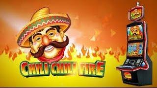 HUGE WIN FULL SCREEN 5c denom Konami Chili Chili Fire Free Feature slot machine