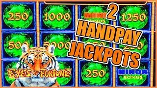 HIGH LIMIT Lightning Link EYES OF FORTUNE (2) HANDPAY JACKPOTS $25 MAX BET Bonus Round Slot Machine