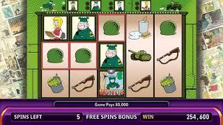 BEETLE BAILEY Video Slot Casino Game with a PASS TO TOWN FREE SPIN BONUS