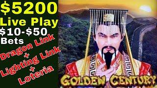$5200 Live Play   Viewers & Subscribers Request  Dragon Link, Lighting Link & Loteria Lock It Link