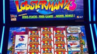Lobstermania 3 • Big Bonuses • Awesome Line Hits • Free Spins • PART 1• Kickapoo Lucky Eagle