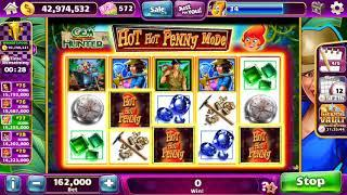 HOT HOT PENNY GEM HUNTER Video Slot Machine with a FREE SPIN BONUS