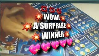 •Wow!.•What a Surprise WINNER on MILLIONAIRE 7's•(Night time classic• game for none•Sleepers)•