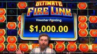 BIG WINS GALORE! Ultimate Fire Link Slot Machine HIGH LIMIT! $10/Spin LIVE PLAY and BONUSES GALORE!