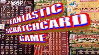 SUPERB Scratchcard Game CASH 7s..CASH BOLT..CASHWORD..INSTANT £100.& £100,000 Yel
