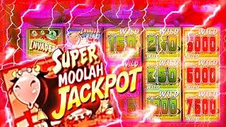SUPER MOOLAH JACKPOT!!! LIVE TRIGGER!!! on Invaders Attack from the Planet Moolah SLOTS