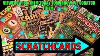 SCRATCHCARD PRIZE DRAW..and SCRATCHCARD FUN.....VIEWERS  PICK THE SCRATCHCARDS