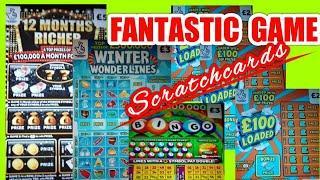 AMAZINGLY ENTERTAINING Scratchcard Game......mmmmmmMMM.. 12 Months RICHER..£100 LOADED..WONDERLINES