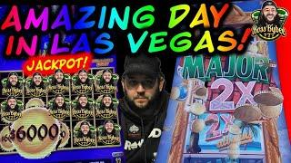 AMAZING DAY IN VEGAS!! DRAGON LINK LIGHTNING LINK HIGH STAKES MIGHTY CASH Pan Am JACKPOT HANDPAY!