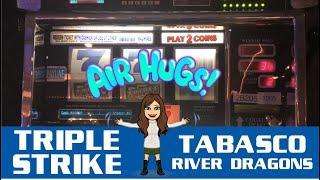 Old School TRIPLE STRIKE & TABASCO High Limit Slot Machine Live Play + River Dragons!