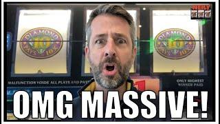 HOLY CRAP! MASSIVE 10X PAY WIN! Huge Jackpot on a small bet! TEN TIMES PAY SLOT MACHINE