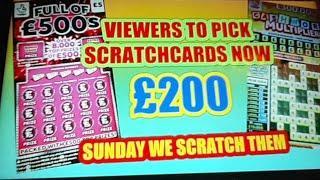 """£200.Scratchcards..PICK""""EM"""".we""""SCRATCH""""EM""""..BIG SUNDAY GAME"""