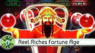 Reel Riches Fortune Age slot machine, Wheels and Bonus