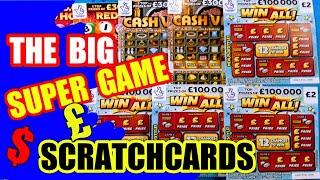 """THE BIG SUNDAY SCRATCHCARD GAME..CASH VAULT""""WIN ALL""""GOLD 7s"""