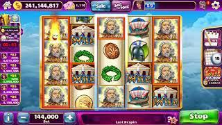 ZEUS II Video Slot Casino Game with a SUPER SPIN BONU