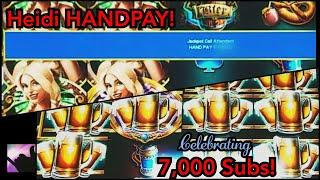 Last Spin HANDPAY JACKPOT on High Limit Bier Haus!  Plus Lightning Link HANDPAY - 7K Subs Special!