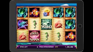 OCEAN'S BOUNTY Video Slot Casino Game with a SEVEN SEAS FREE SPIN BONUS