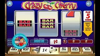 [CRAZY CHERRY SLOTS GAMEPLAY]  'WGS (FORMERLY VEGAS TECHNOLOGY) GAMING'    PLAYSLOTS4REALMONEY