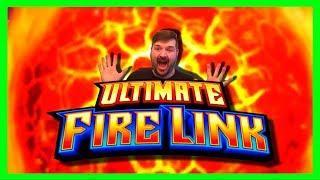 HIGH LIMIT$10/SPIN Ultimate Fire Link Slot Machine Bonus Winning W/ SDGuy1234