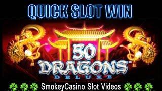 50 Dragons Deluxe Slot Machine Nice min-bet Win - Aristocrat