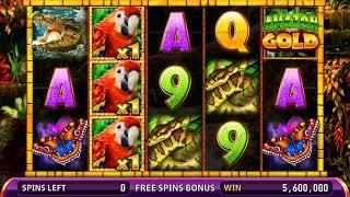 AMAZON GOLD Video Slot Casino Game with an AMAZON GOLD FREE SPIN  BONUS