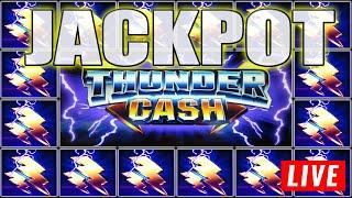 LIVE PLAY PAYS A HANDPAY JACKPOT ON THUNDER CASH HIGH LIMIT SLOTS