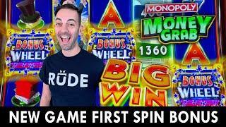 NEW Monopoly Money Grab  First Spin BONUS!!