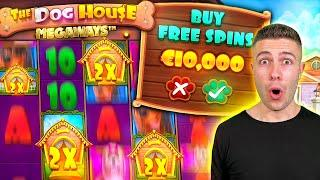 BUYING A €10,000 BONUS ON THE DOG HOUSE MEGAWAYS AND LETTING A WHEEL DECIDE STICKY OR RAINING