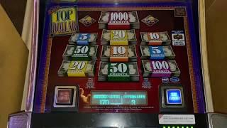 Double Top Dollar Second Spin Handpay!  HIGH LIMIT  JACKPOT/LIVE PLAY!