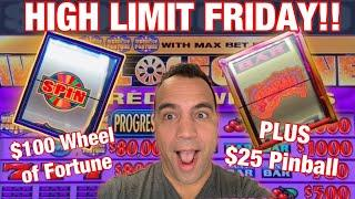 $100 Wheel of Fortune JACKPOT HANDPAY SPIN!! |  | $12 - $100 High Limit BETS LIVE PLAY!!