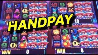HANDPAY!  More More Chilli, Zeus Unleashed, Welcome to Bedrock Slots.