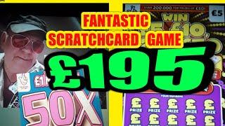 FANTASTIC SCRATCHCARD GAME..£195.00..50X..MONOPOLY..