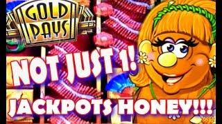 JACKPOT HANDPAY  GOLD PAYS GOLDEN PRINCESS & BETTI THE YETTI  CAUGHT LIVE!