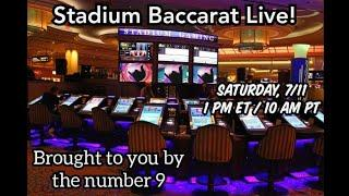 Live Stadium Baccarat in Vegas!