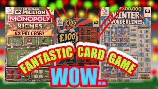 "AMAZING..Scratchcard Game REDHOT BINGO"" MONOPOLY""WONDERLINES""5X CASH..WOW!"