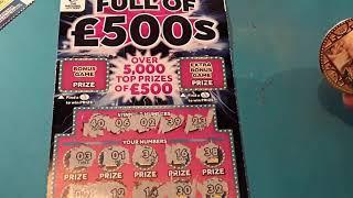 Full of £500s...and ..BONUS..Scratchcard.....on our One Card Wonder Game..  mmmmmmMMM