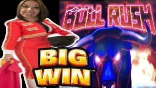 BIG WIN on Bull Rush  Slot Queen is running with the bulls - OL'E
