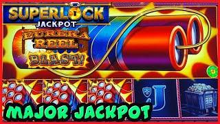 SUPERLOCK Lock It Link Eureka Reel Blast MAJOR JACKPOT HANDPAY HIGH LIMIT $24 BONUS Slot Machine