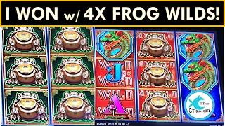 I WAS SHOCKED THIS GAME COULD PAY!  YAY MONEY FROG SLOT MACHINE! AWESOME BUFFALO TOWER BONUS!