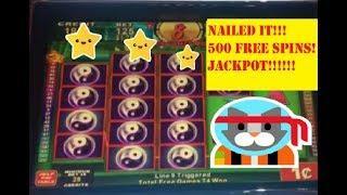 JACKPOT!  HANDPAY CHINA SHORES MEGA 500 FREE SPIN BONUS!  seullos meosin